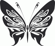 Tribal Butterfly Vector Art 07 DXF File
