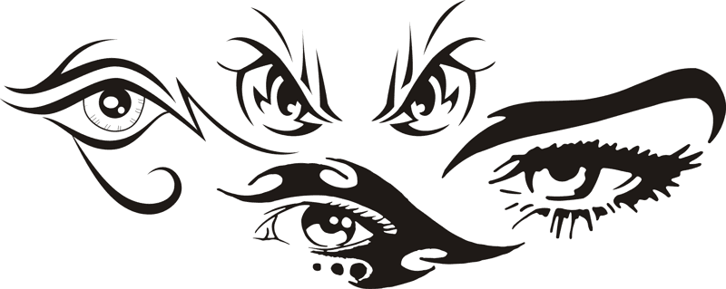 Tribal Eye Tattoo Car Stickers Free Vector