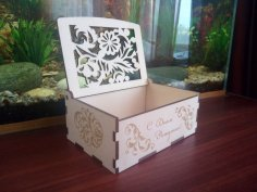 Wood Laser Cut Box Wood Puzzle Box 3mm CDR File