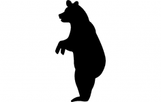 Bear Standing dxf File