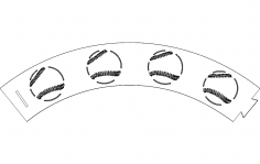 Baseball Cupcake Wrapper dxf File