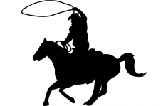 Cowboy Clip dxf File