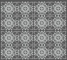 Repeating Geometric Pattern Free Vector
