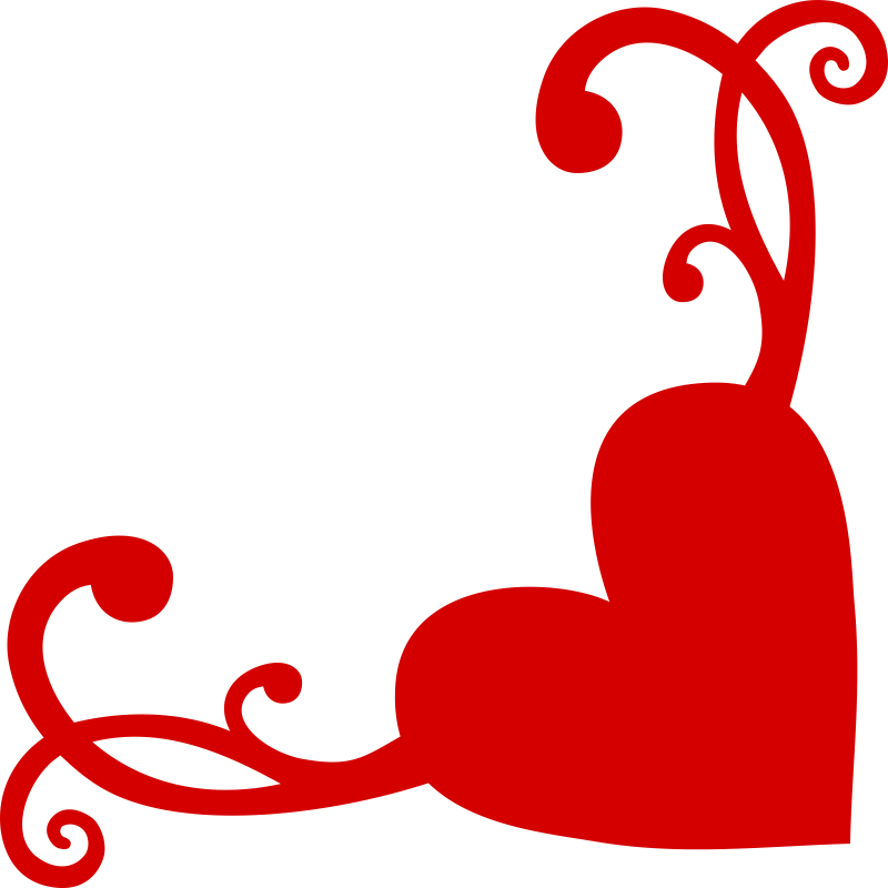 Heart Flourish Corner Free Vector