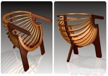 Shell Chair Laser Cut CNC Plans PDF File