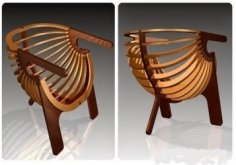 Shell Chair Laser Cut CNC Plans PDF File