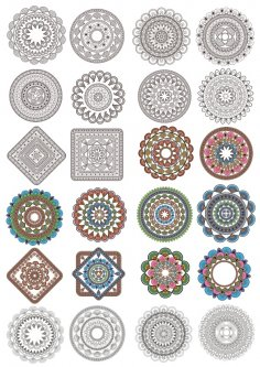 Ornament Set Free Vector