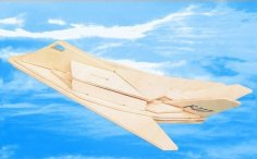 F-117 Aircraft Laser Cut PDF File