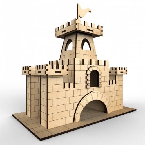 Castle Tea House Laser Cut Free Vector