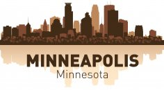 Minneapolis Skyline Free Vector