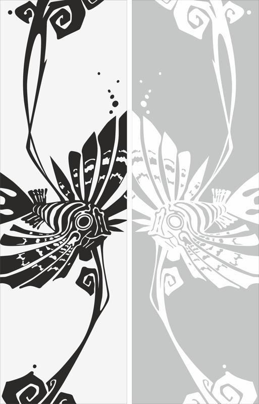 Abstract Drawing Sandblast Pattern Free Vector