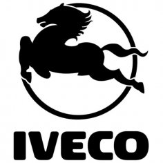 Iveco logo vector dxf File