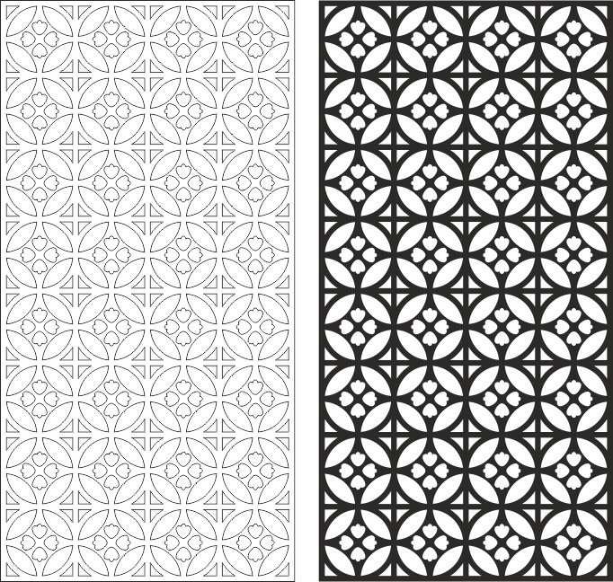 Seamless Pattern Abstract Circle Pattern CDR File