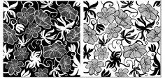 European Art Deco Floral Vectors