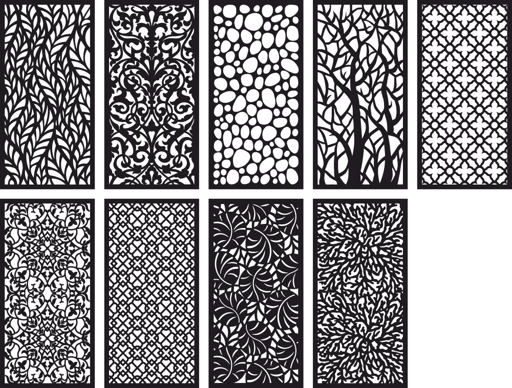 Pattern Panel Screen Collection Free Vector