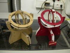 Lasercut Cardboard Gimbal DXF File