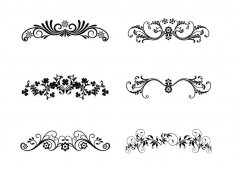 Vector Floral Ornamental Design Elements EPS File