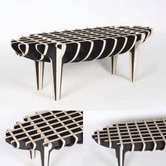Piggy Coffee Table Laser Cut CNC Router Plans Free Vector