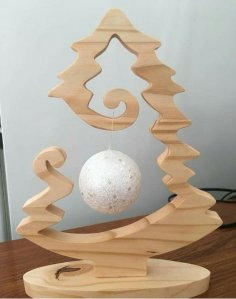 Laser Cut Christmas Tree Bauble Holder Christmas Bauble Stand Free Vector