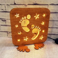 Laser Cut Home Decor Night Light Lamp Free Vector