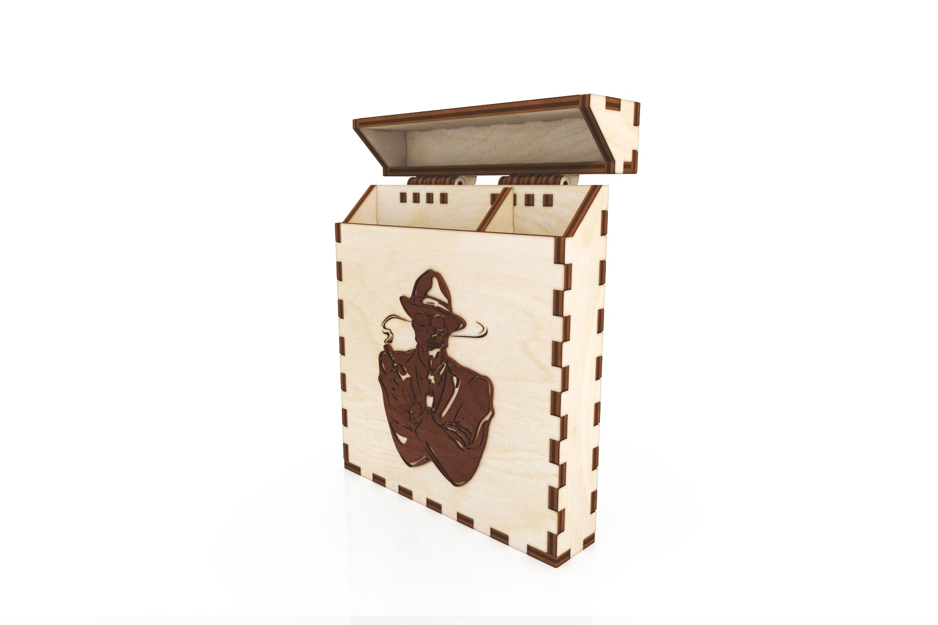 Laser Cut Wooden Cigarette Box 100mm Free Vector