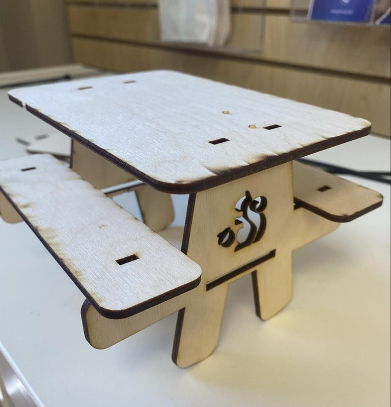 Laser Cut Toy Picnic Table SVG File