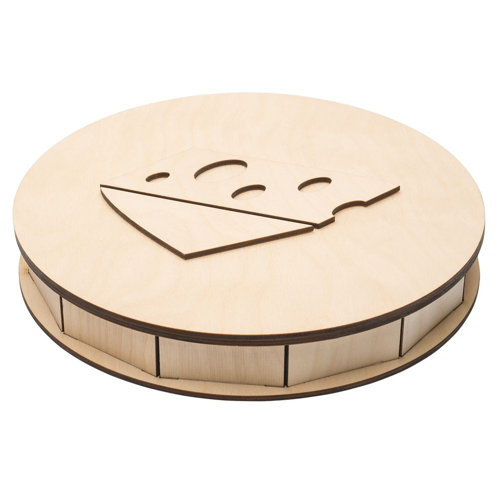 Laser Cut Wooden Cheese Box 4mm Free Vector