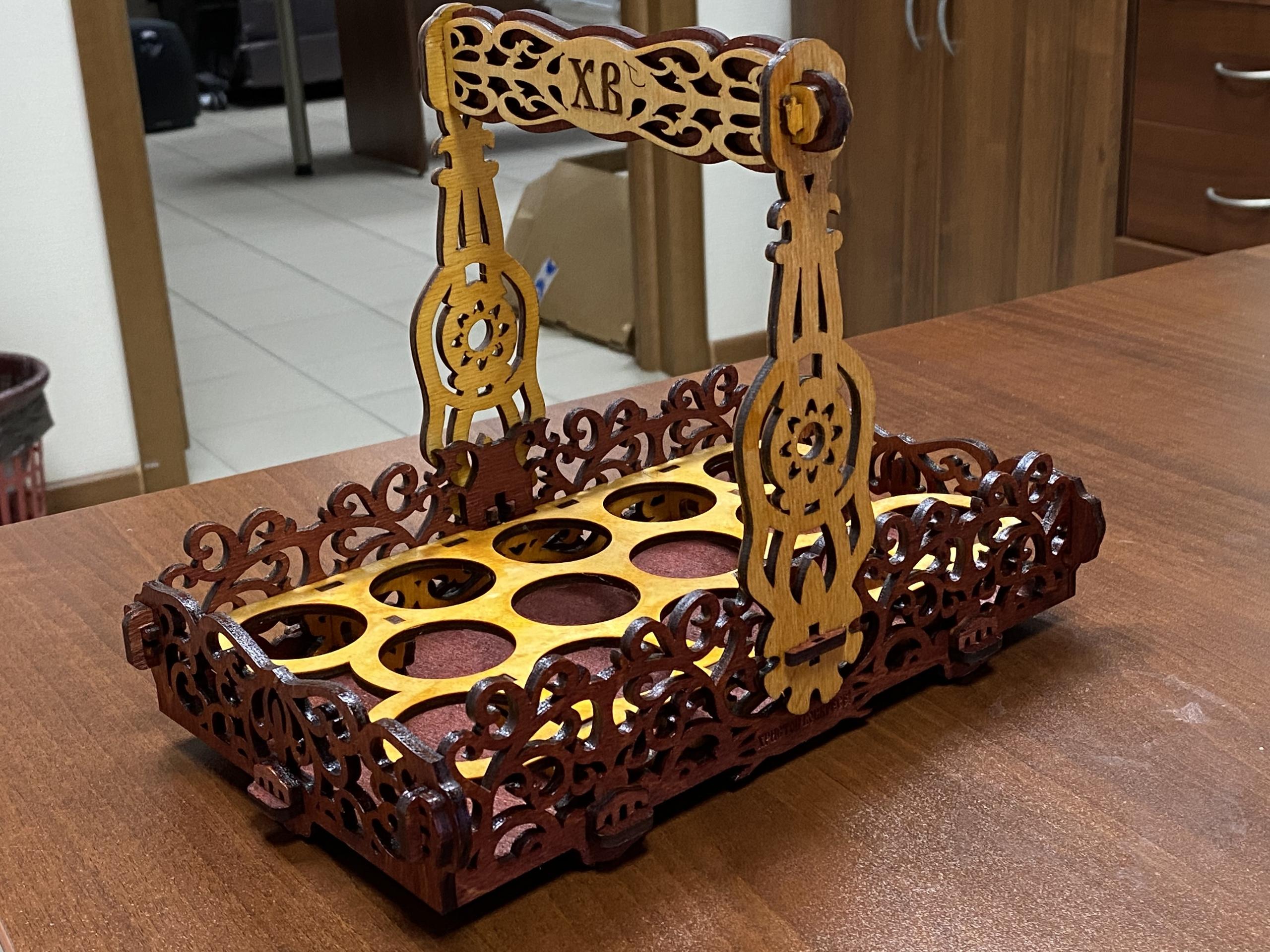 Laser Cut Easter Basket Wooden Easter Gift Free Vector
