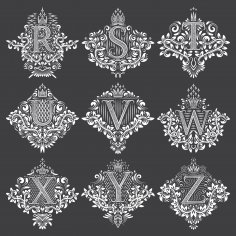 Decorative Letters Vector Art Free Vector