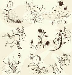 European Pattern Vector Free Vector