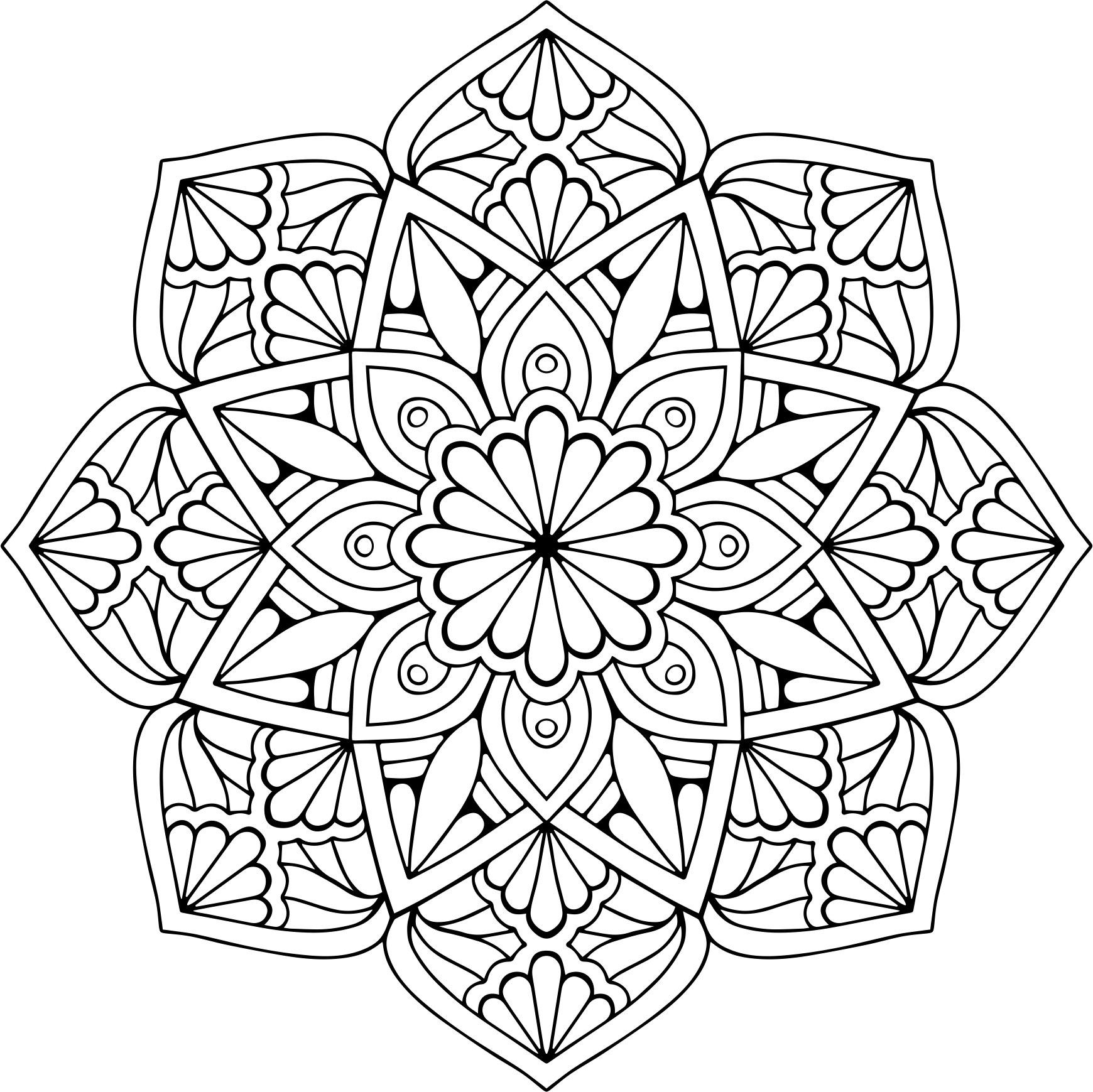 Mandala Floral Vector Free Vector