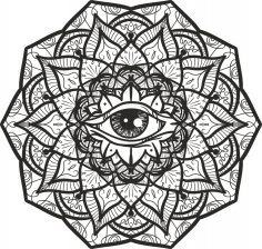 Mystical Mandala Masson Free Vector