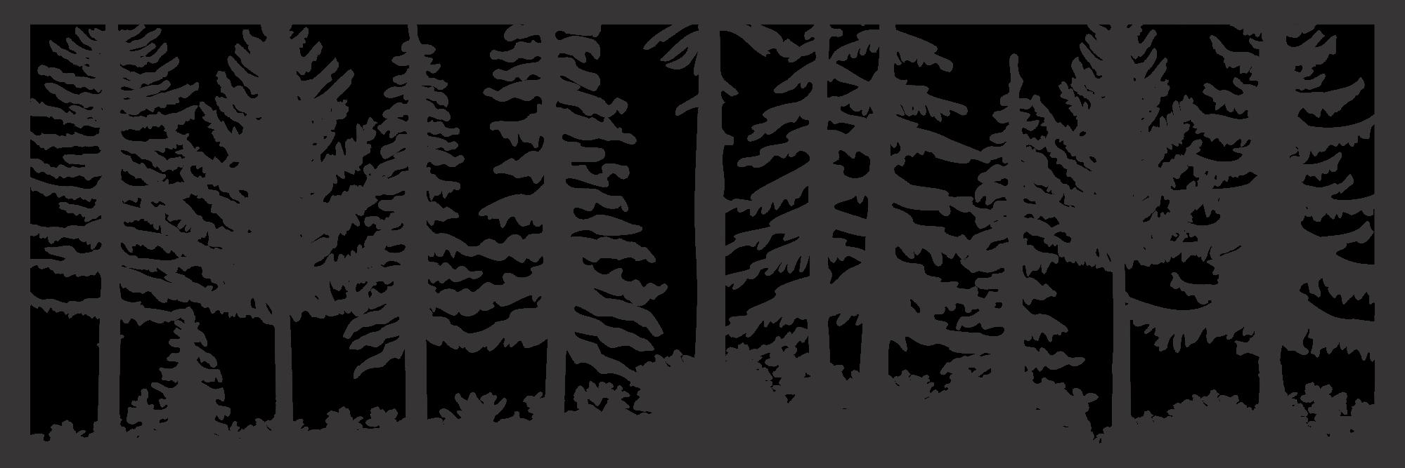 24 X 72 Just Trees Rick Plasma Art DXF File