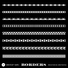 Decorative Borders Set Free Vector