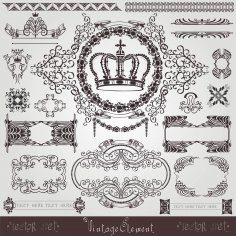 Art Nouveau Royal Label Banner Free Vector