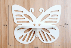 Laser Cut Butterfly Shelf Vector Free Vector