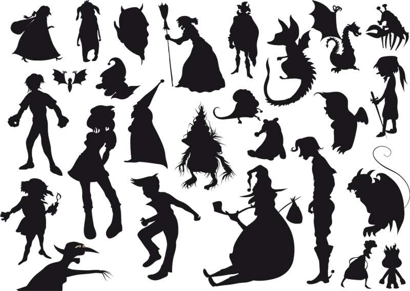Witch Silhouettes Free Vector