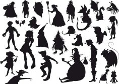 Witch Silhouettes EPS File
