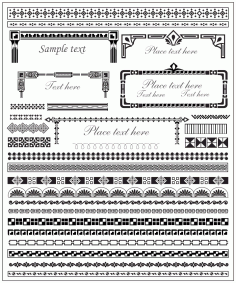Decor Border Elements EPS File