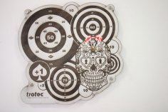 Dart Board Laser Cut Free Vector