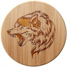 Wolf Laser Cut DXF File