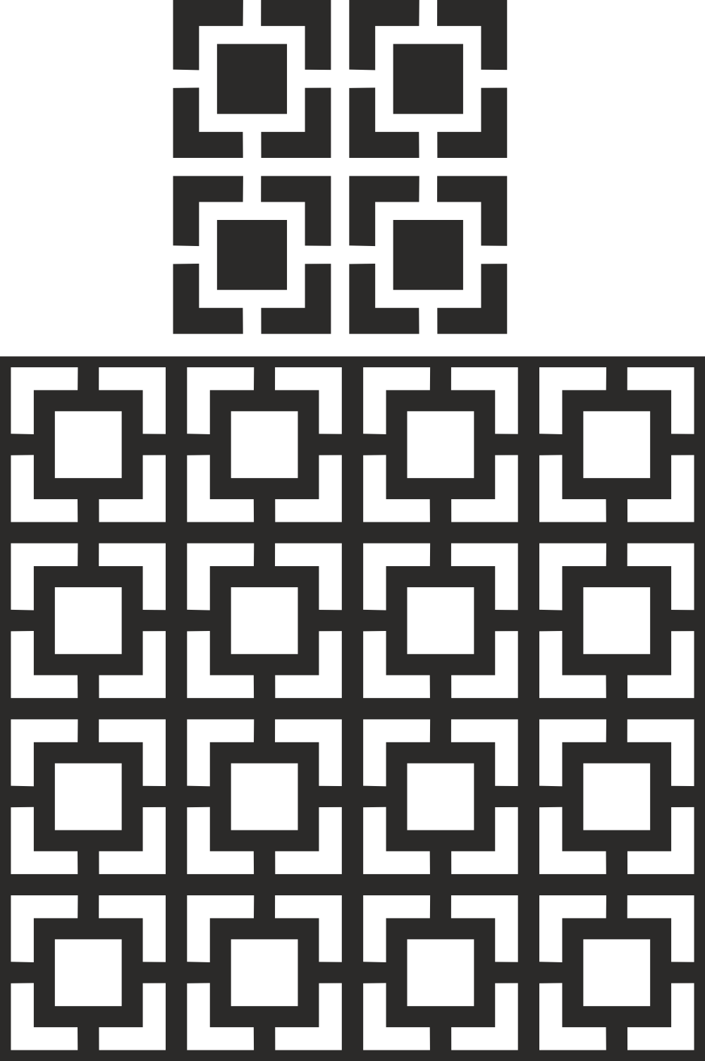 Decorative Partition Pattern Free Vector