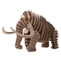 Mammoth 3D Puzzle Laser Cut CNC Plans Free Vector