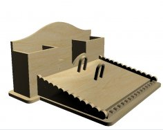 Laser Cut Wooden Desk Organizer DXF File