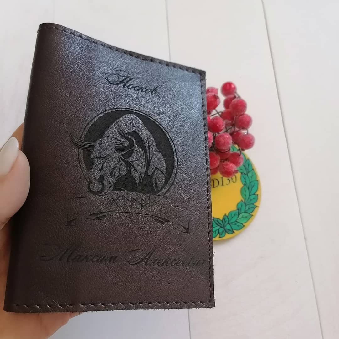 Laser Cut Bull For Engraving On Leather Wallet Free Vector