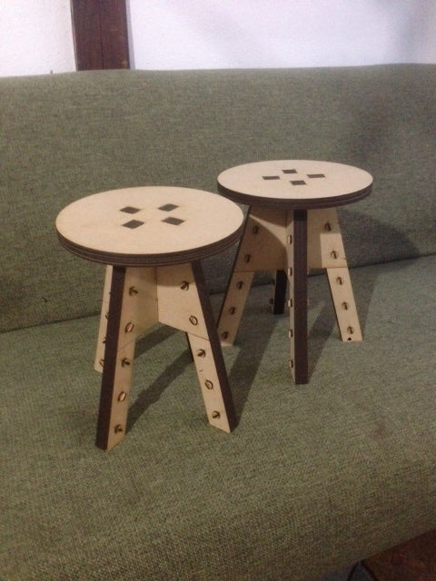 Laser Cut Trapezoid Ministool MDF 2.5mm DXF File