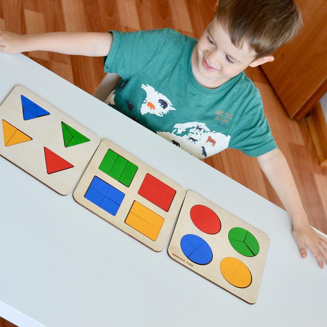 Laser Cut Montessori Circle Puzzle Toy Free Vector