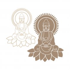 Laser Cut Buddha SVG File