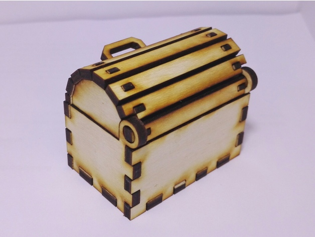 Laser Cut Toy Treasure Chest Free Vector