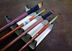 Laser Cut Paint Brush Stand Holder Organizer Free Vector